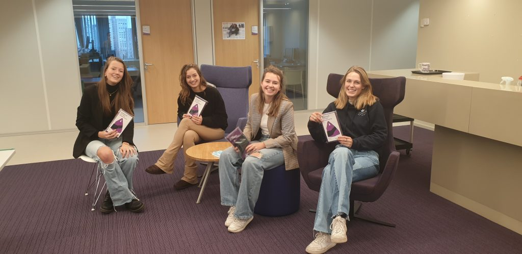Team Groeispurt - From left to right: Yanouk Kuiper, Romy Resende, Marije Kaljee, Josephine Vingerling. Mijke Versteeg is not on the photo.
